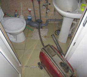 Прочистка засоров канализации