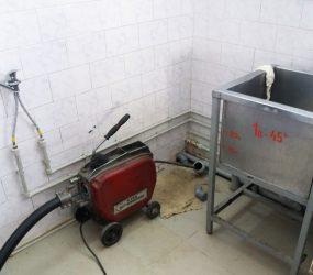 Прочистка канализации в кафе